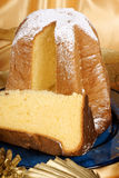 Pandoro the italian Christmas golden cake Stock Images