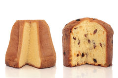 Pandoro and Panettone Cakes Royalty Free Stock Photos