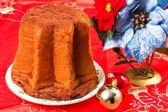 Pandoro, torta del panettone para la Navidad Foto de archivo libre de regalías