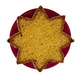 Pandoro - traditional Italian Chistmas cake, bread. Star shaped. Stock Image