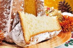 Pandoro, typical Italian sweet bread for Christmas time Royalty Free Stock Images