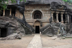 Pandu Leni caves. Situated in Nashik, Maharashtra, India. This 3rd BC caves were built by Hinayana Buddhists stock photo