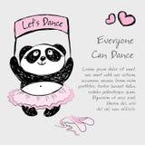 Pandy dziewczyny baletniczy tancerz, wektorowy ilustracyjny tło ilustracja wektor