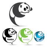 Pandy odznaka Obraz Stock