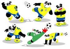 Pandy piłka nożna Brasil Wszystkie Action2 ilustracja wektor