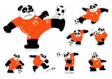Pandy piłka nożna Holandia Wszystkie akcja Zdjęcia Royalty Free