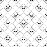 Pandy twarzy bezszwowy wzór Zdjęcia Royalty Free