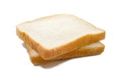 Pane affettato isolato su bianco Fotografia Stock