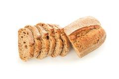 Pane affettato isolato su priorit? bassa bianca fotografia stock