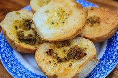 Pane all'aglio fresco immagine stock