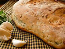 Pane all'Erbe. Italian bread with herbs Pane all'Erbe Royalty Free Stock Photos