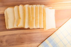 Pane bianco affettato Immagine Stock