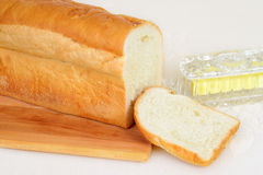 Pane bianco affettato fresco Fotografia Stock Libera da Diritti