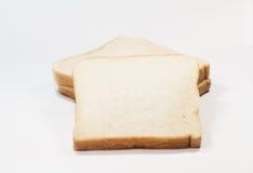 Pane bianco della fetta immagine stock
