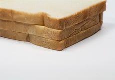Pane bianco della fetta fotografia stock libera da diritti