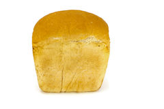 Pane bianco isolato sopra bianco Immagine Stock