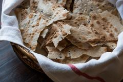 Pane Carasau Crispy Flatbread From Sardinia. Thin Bread. Organic Food Royalty Free Stock Photos