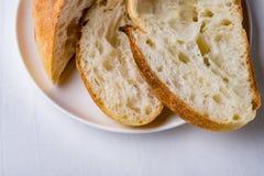 Pane casalingo affettato fotografia stock