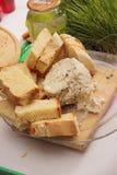 Pane casalingo con formaggio Fotografia Stock Libera da Diritti