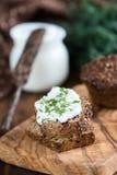 Pane casalingo della farina d'avena Fotografie Stock Libere da Diritti