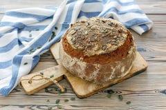 Pane casalingo della zucca fotografia stock libera da diritti