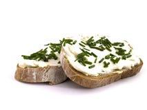 Pane con cagliata Immagini Stock Libere da Diritti