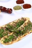 Pane con carne - pizza turca fotografia stock libera da diritti
