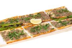 Pane con carne - pizza turca fotografie stock