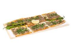 Pane con carne - pizza turca immagini stock libere da diritti