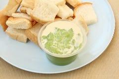 Pane con crema Immagine Stock
