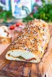Pane con formaggio Immagini Stock
