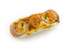 Pane con gli anelli di cipolla Fotografie Stock