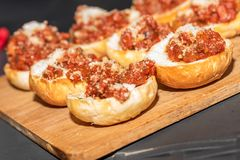 Pane con i pomodori fotografia stock