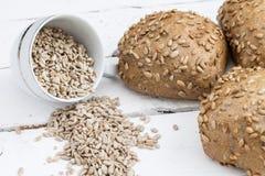 Pane con i semi di girasole Fotografia Stock