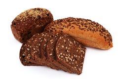 Pane con i semi di sesamo Fotografie Stock Libere da Diritti