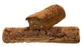 Pane con i semi, la frutta e le noci Immagini Stock Libere da Diritti