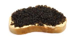 Pane con il caviale. Immagini Stock