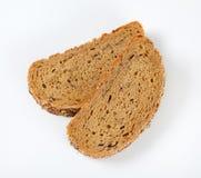 Pane con il papavero, il girasole ed i semi di sesamo Fotografia Stock