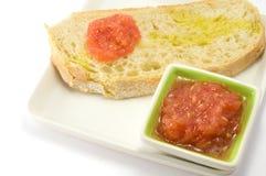 Pane con il pomodoro Immagine Stock