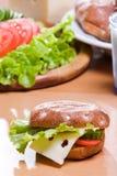 Pane con insalata Fotografia Stock Libera da Diritti