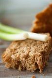 Pane con la cipolla verde Fotografia Stock Libera da Diritti