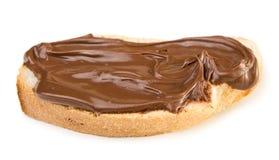 Pane con la diffusione del cioccolato fotografia stock libera da diritti
