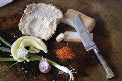 Pane con la paprica e la macchietta della cipolla Immagini Stock