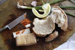 Pane con la paprica e la macchietta della cipolla Fotografie Stock