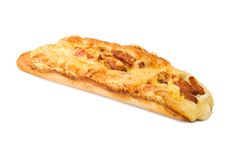 Pane con la salsiccia ed il formaggio Fotografia Stock Libera da Diritti