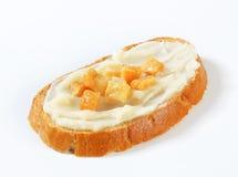 Pane con lardo ed i ciccioli Fotografia Stock Libera da Diritti