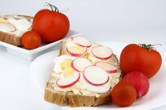 Pane con le uova Fotografia Stock