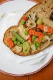 Pane con le verdure Fotografia Stock