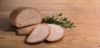 Pane con sedano di montagna Fotografie Stock