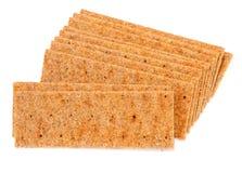 Pane croccante su bianco Immagini Stock